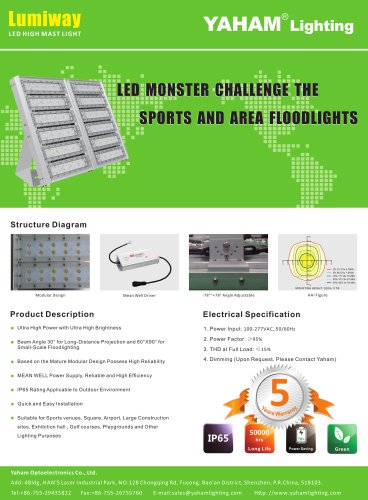 Yaham led high mast light catalogue