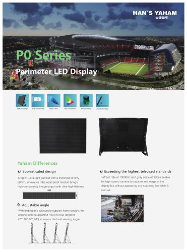 Yaham new PO Series ,Perimeter led display