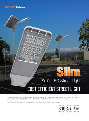YAHAM solar LED street light
