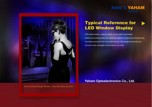 YAHAM Typical Reference for LED Window Display catalogues