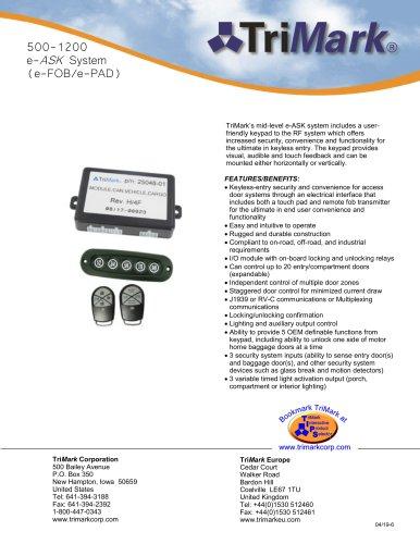 500-1200 e-ASK System (e-FOB/e-PAD) - TriMark - PDF Catalogs