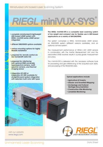 RIEGL miniVUX-SYS