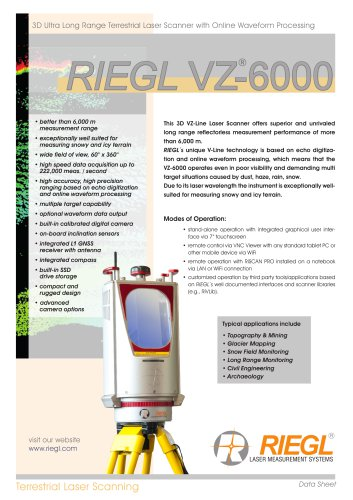 RIEGL VZ-6000