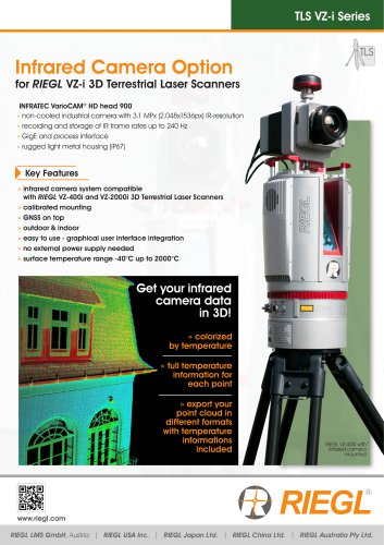 RIEGL VZ-i Infrared Camera Option