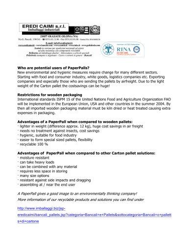 paper pall - Eredi Caimi - PDF Catalogs | Technical Documentation