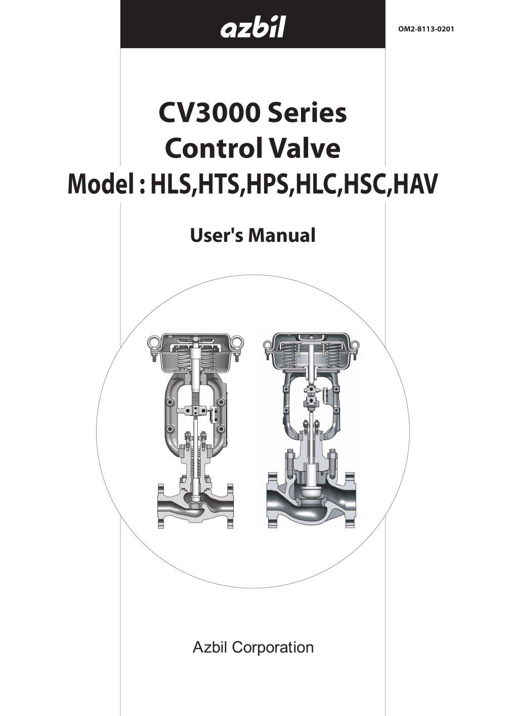 cv 3000 alphaplus series model acp control valve azbil north