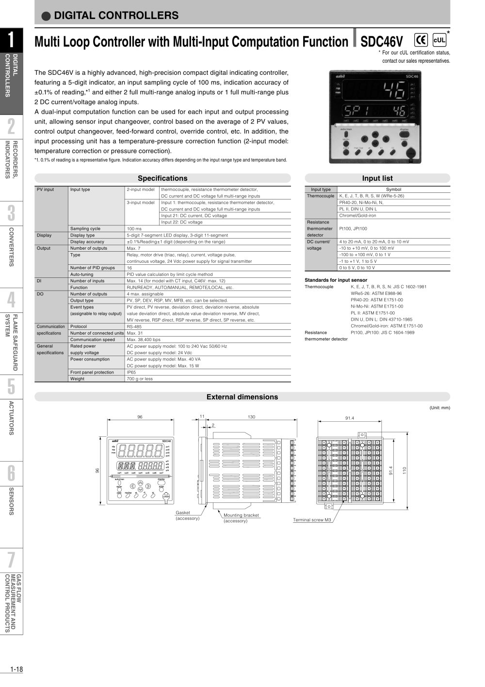 Multi loop controller with multi input computation function sdc46v multi loop controller with multi input computation function sdc46v 1 2 pages xflitez Images