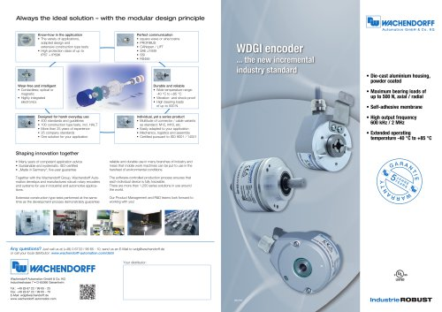WDGI encoders - the new incremental industry standard