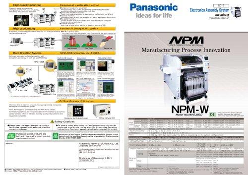 NPM_W - Panasonic Factory Automation Company - PDF Catalogs
