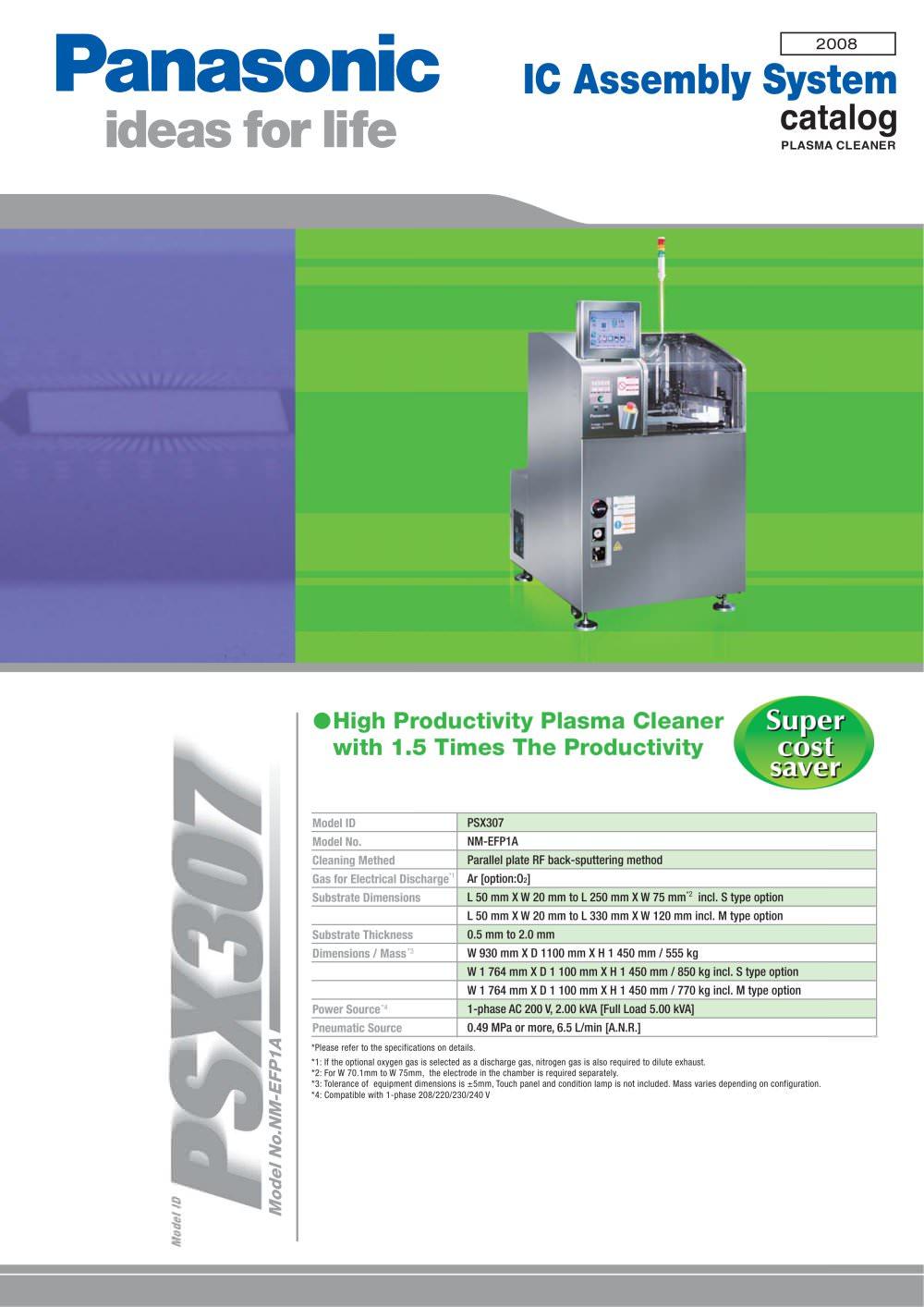 Plasma Cleaner Psx307 Panasonic Factory Automation Company Pdf Washing Machine Wiring Diagram 1 2 Pages
