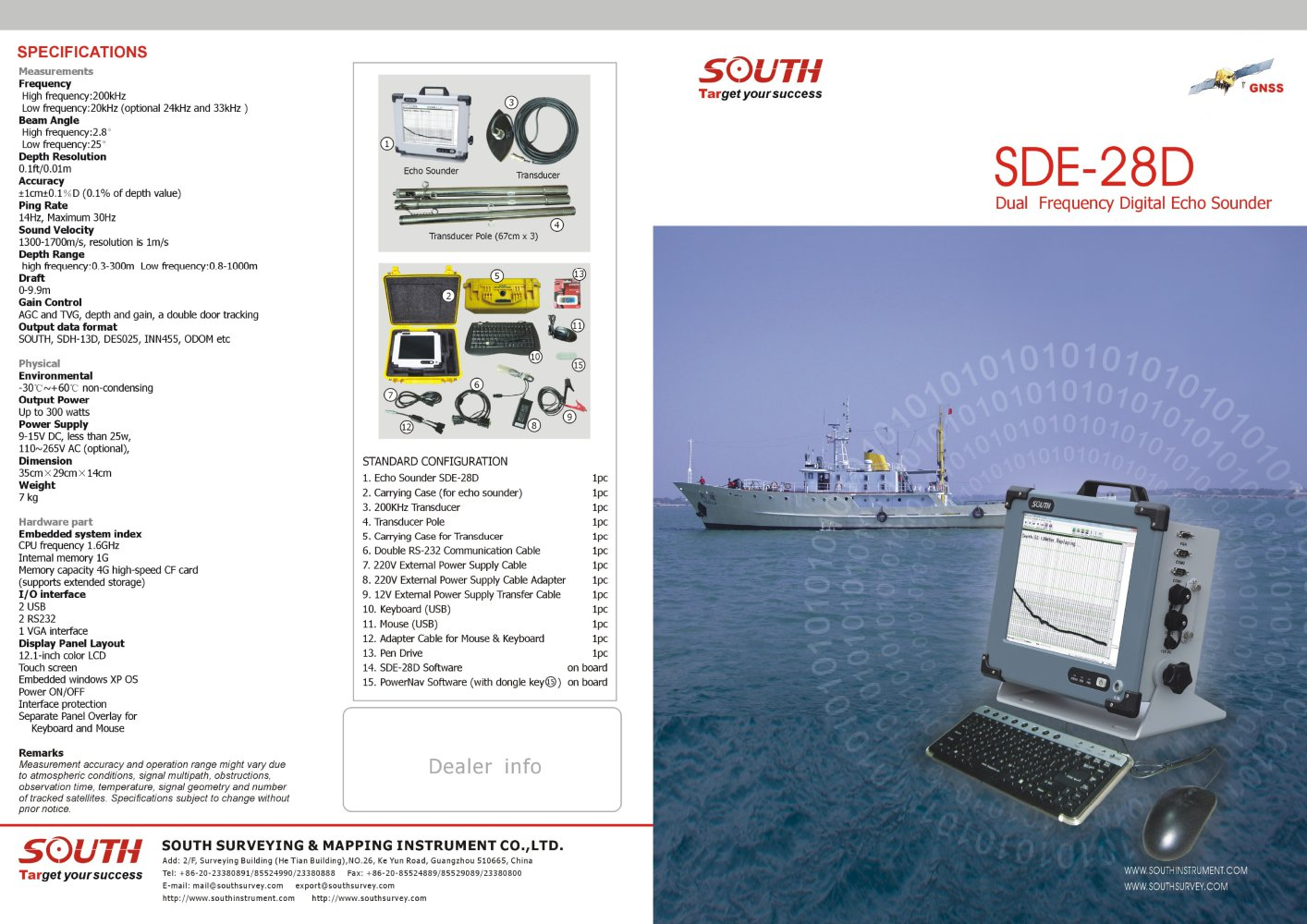 dual-frequency-digital-echo-sounder-south-sde-28d