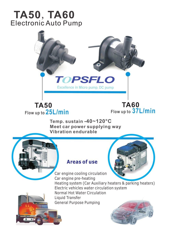 Ta50 Ta60 Electric Car Water Circulation Pump Topsflo Industry And