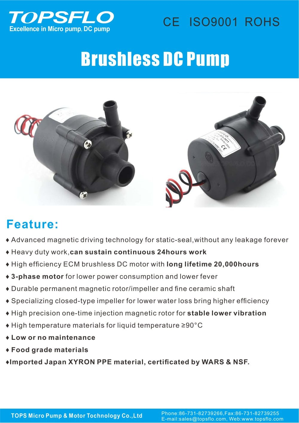 TL-C01 Brushless dc water pump/mini pump - 1 / 3 Pages