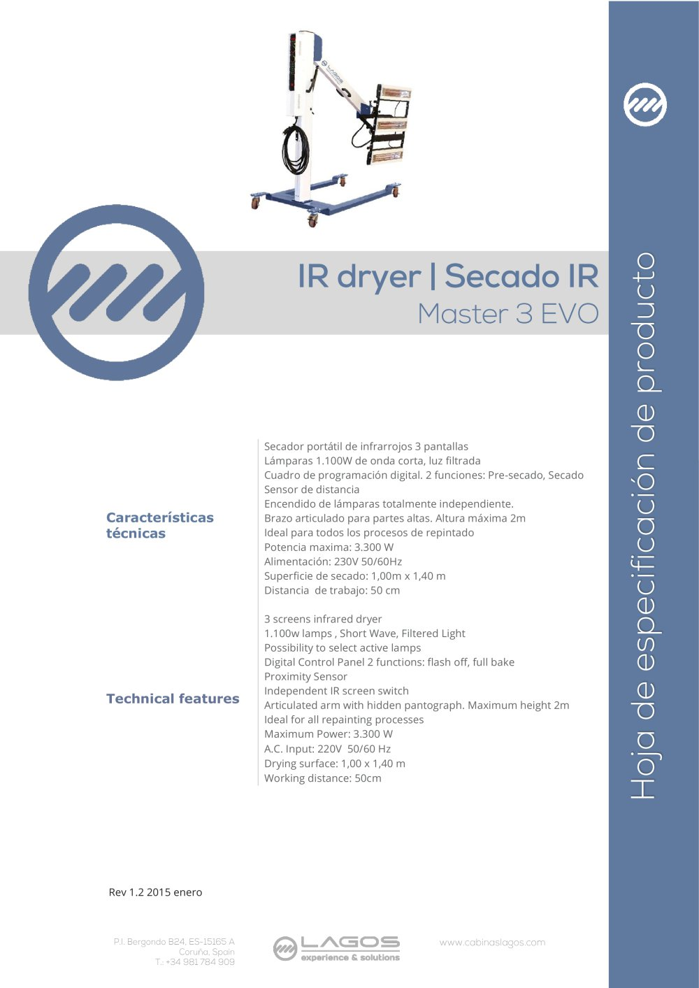 MASTER 3 EVO - Equipos Lagos - PDF Catalogue | Technical ...