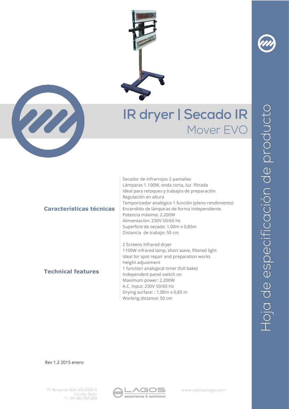 Mover Evo Equipos Lagos Pdf Catalogue Technical Documentation Upang Bulb Replacement 1 Infrared 2 Uv Pages