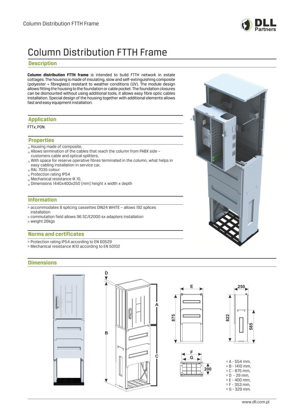 Column Distribution FTTH Frame - DLL Partners - PDF Catalogue ...