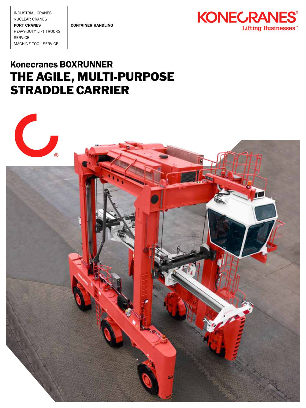 Boxrunner the agile multi purpose straddle carrier 1 20 pages