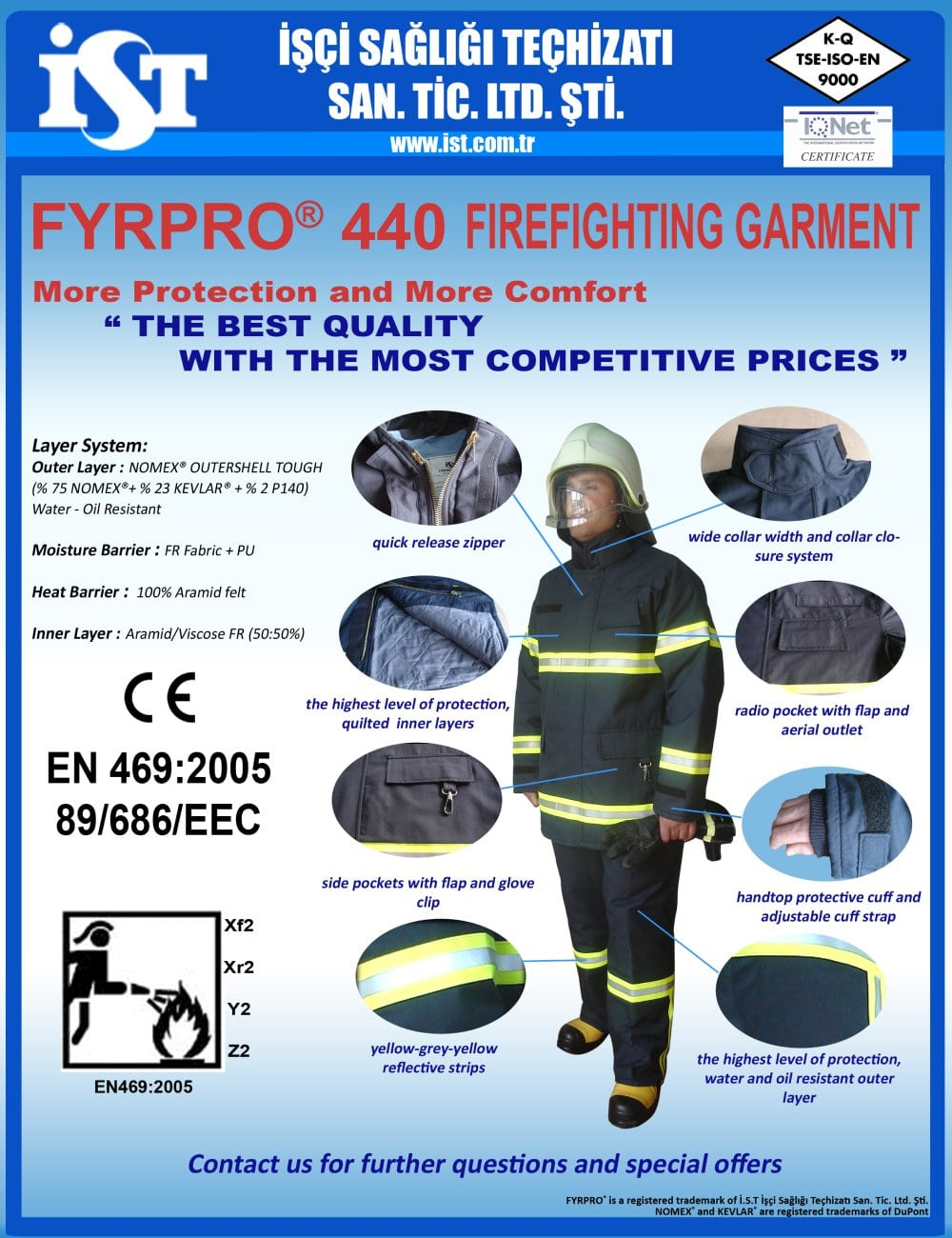 FYRPRO 440 Fire Fighting Suit Brochure - 1 / 1 Pages