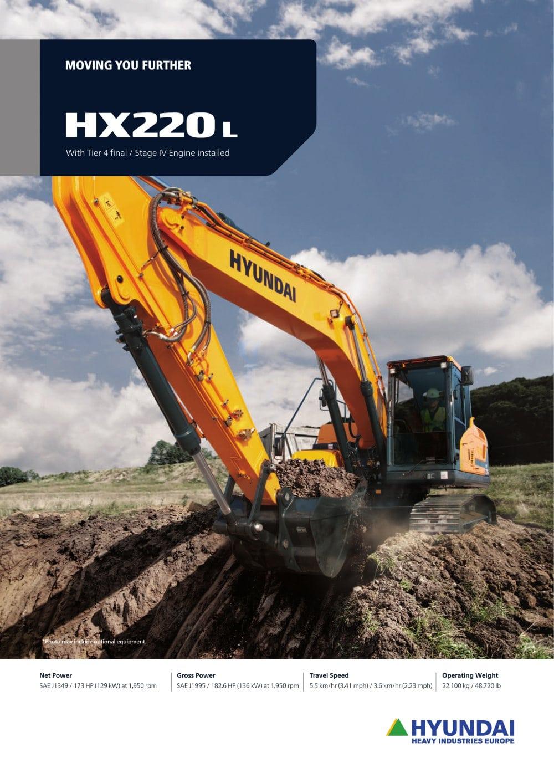 HX220 L CRAWLER EXCAVATOR - 1 / 24 Pages