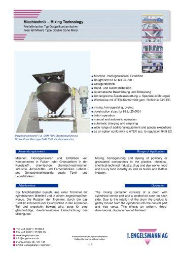Brochure Double Cone Mixers