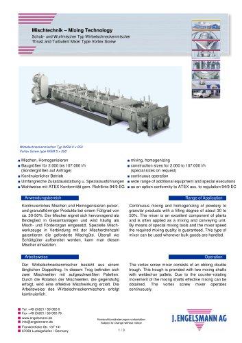 Brochure Vortex Screw Mixer