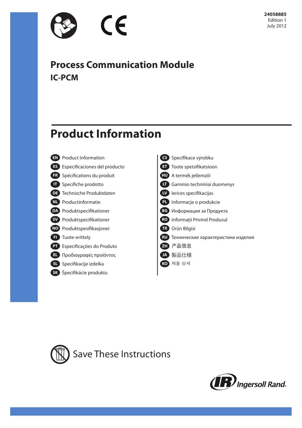 Process Communication Module IC-PCM - 1 / 20 Pages