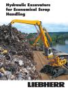 The hydraulic excavators for economical scrap handling