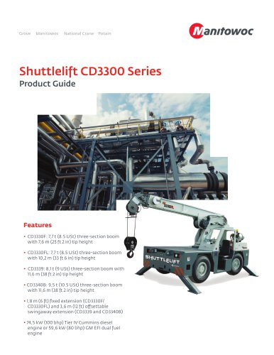 Shuttlelift CD3300 Series - Manitowoc Cranes - PDF Catalogs ... on
