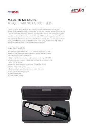 Jetco Torque Wrench Model Ed