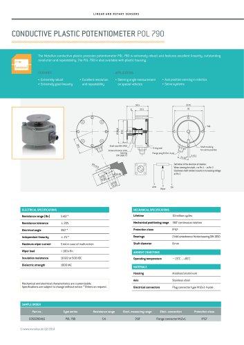 Conductive plastic potentiometer POL 790