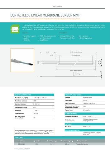 Contactless linear membrane sensor MMP