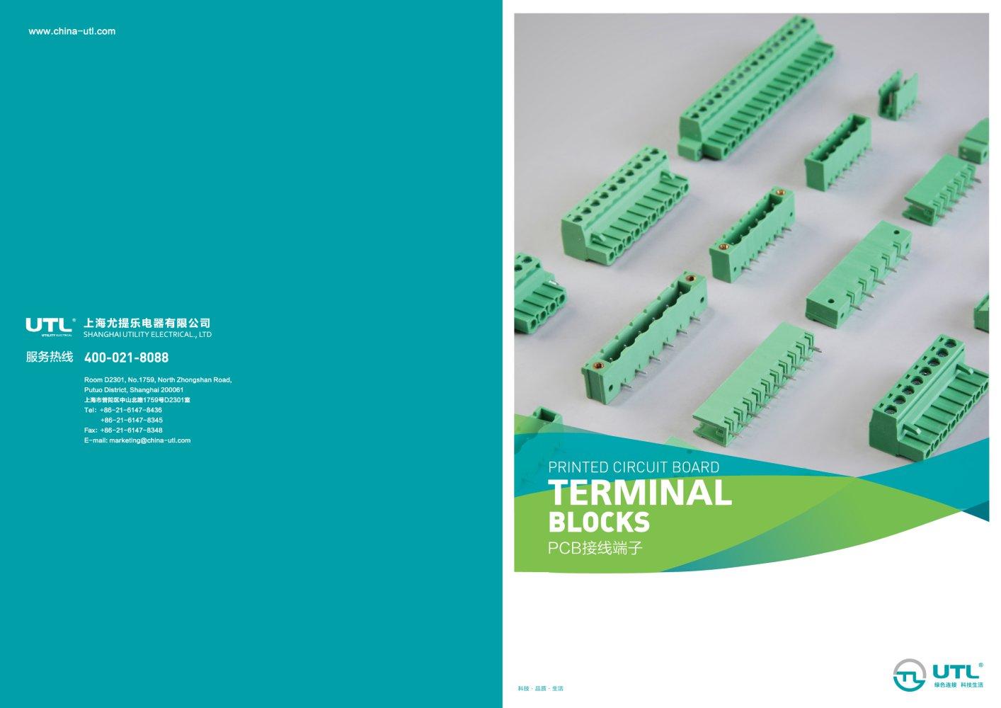 PCB terminal blocks - Utility Electrical Co., Ltd. - PDF Catalogue ...