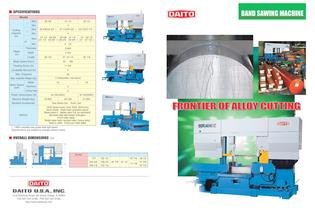 Band sawing machine for alloy steel - SGAII8010CNC