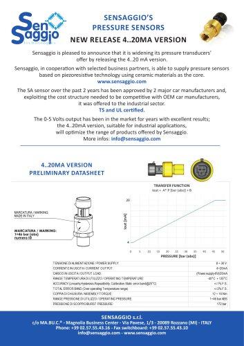 Absolute pressure transducer 4-20 mA - SENSAGGIO SRL - PDF Catalogs