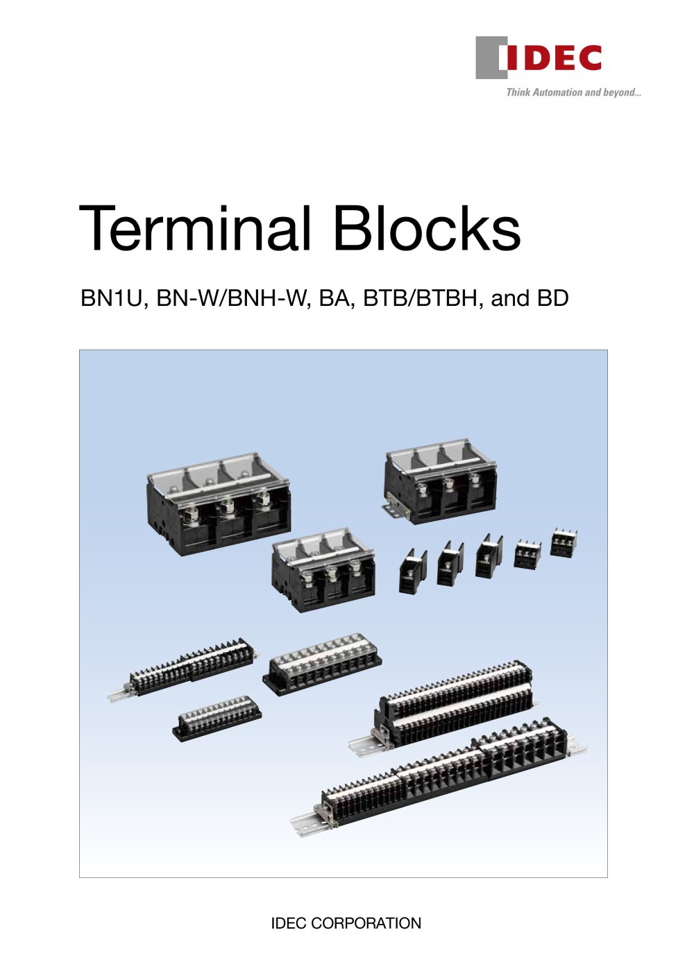 Ba Series Terminal Blocks Idec Usa Pdf Catalogue Technical Relay Wiring 1 52 Pages