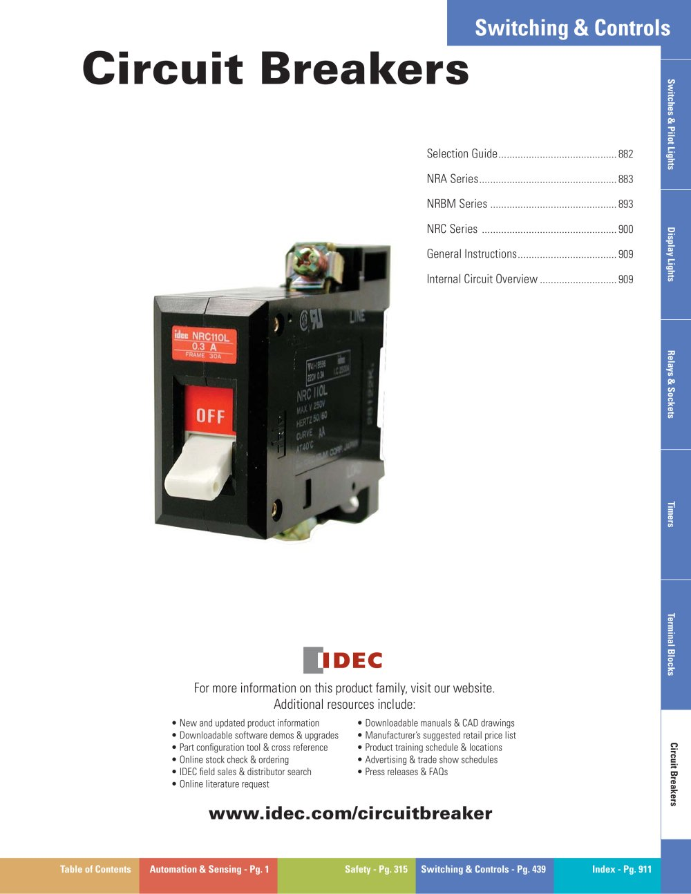 Complete Circuit Breakers Catalog Idec Pdf Catalogue Technical Relay Wiring 1 30 Pages