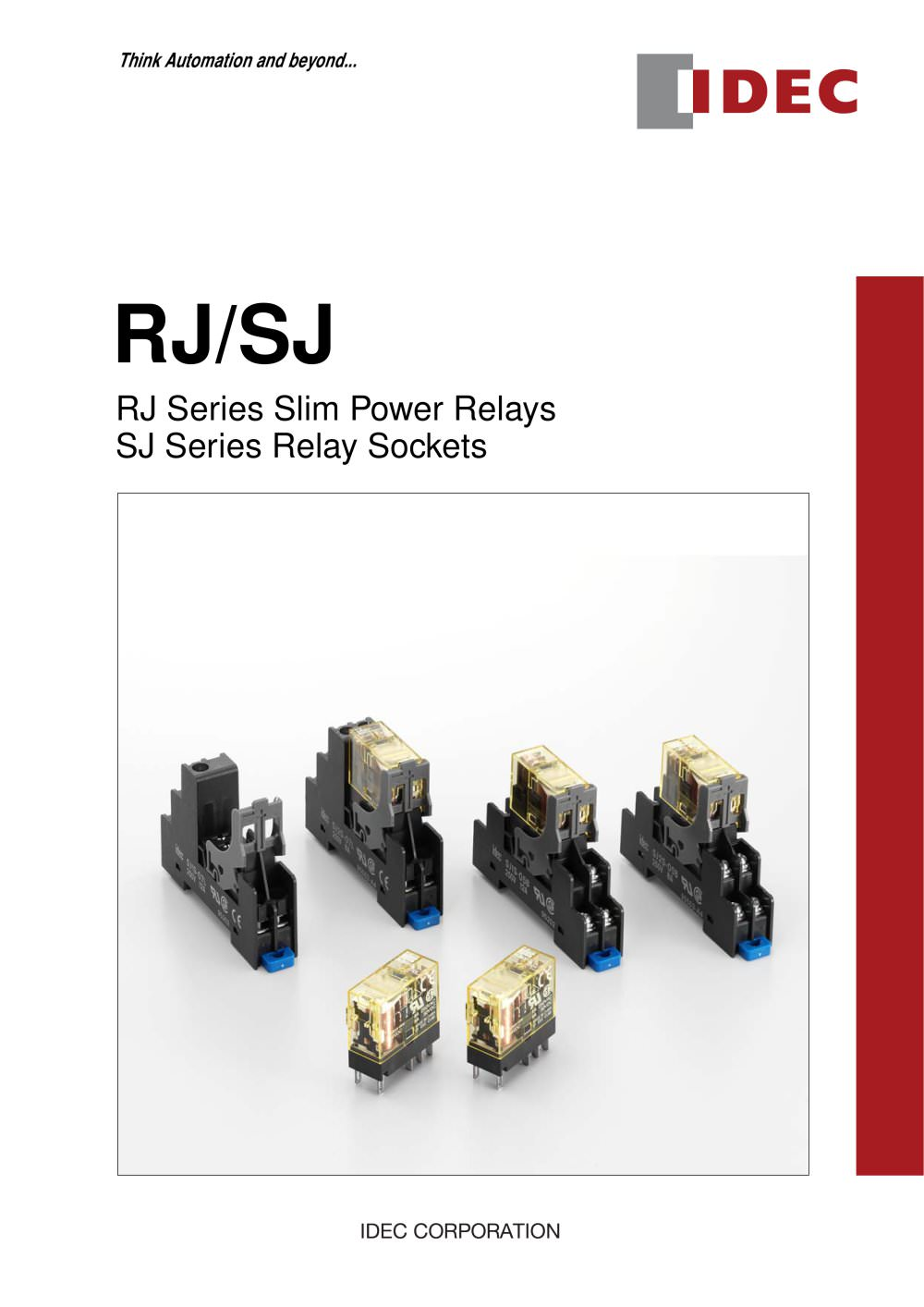 Rjs Relays Und Sockets Idec Pdf Catalogue Technical Relay Coil Pickup Voltage S 1 12 Pages