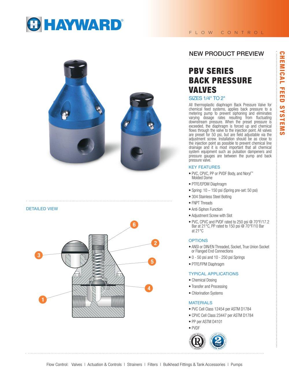 Npppbv0915 pbv series back pressure valves hayward industries npppbv0915 pbv series back pressure valves 1 2 pages ccuart Choice Image