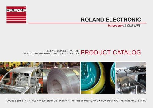 ROLAND ELECTRONIC Product catalog