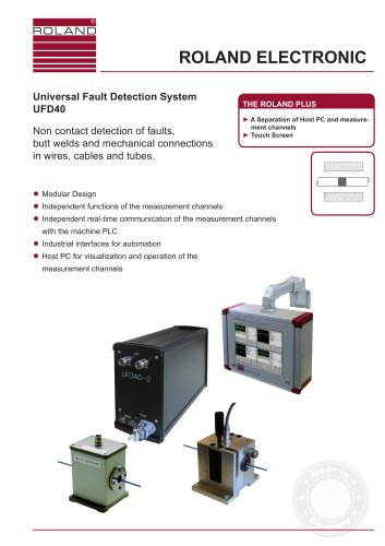 UFD40  Universal Fault Detection System with Eddy-Current Technology