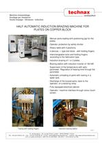 Half-automatic induction brazing machine