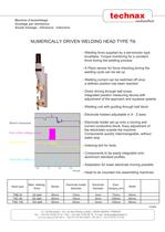 Numerically driven spot resistance welding head type TN