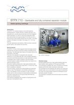 	BTPX Separator - BTPX 710 - Pilot plant separation system