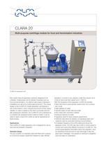 	CLARA - CLARA 20 - Multipurpose centrifuge module for food and fermentation industries
