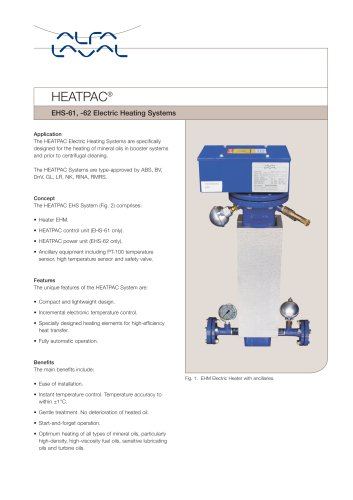 EHS-61, -62 Electric Heating Systems - Alfa Laval - PDF Catalogue ...