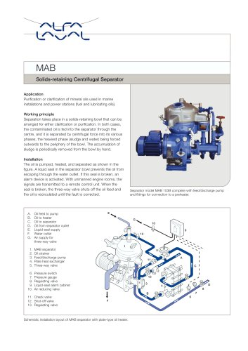 mab solids retaining centrifugal separator alfa laval pdf rh pdf directindustry com Alfa Laval Cooler Alfa Laval Homogenizer