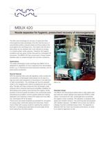 MBUX 420 - Nozzle separator for hygienic, pressurised recovery of microorganisms