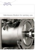 Membrane filtration for sanitary use - the complete line