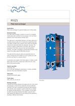 MX25 - Plate heat exchanger 