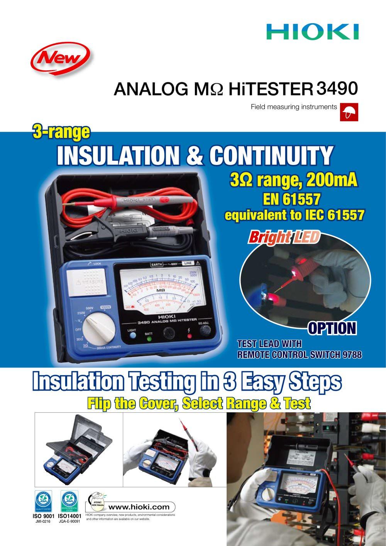 Hioki Digital Ir4056 20 M Ohm Hitester Update Daftar Harga Infrared Thermo Hi Tester Ft3701 3490 Analog Mohm 1 2 Pages